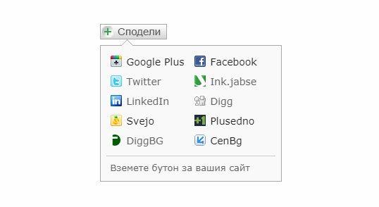 Бутон за споделяне в социални мрежи и директории