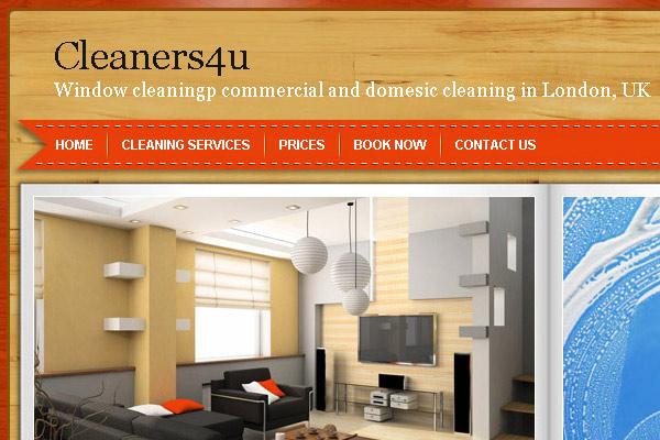 Динамичен уеб сайт Cleaners4u