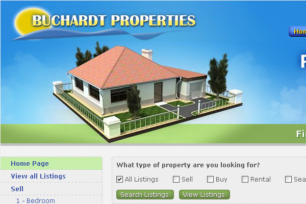 Уеб сайт Buchardt Properties