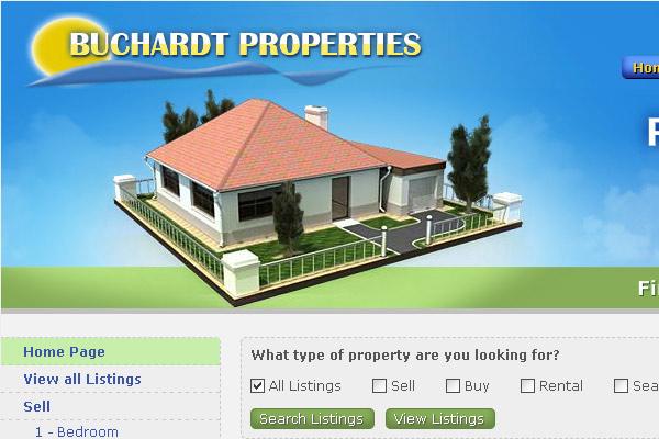 Уеб сайт за имоти Buchardt Properties