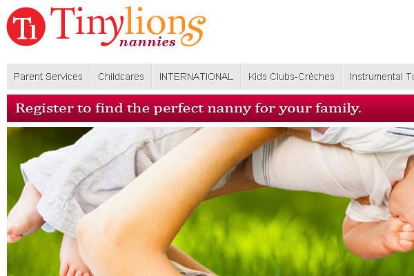 Уеб сайт TinyLionsNannies Лондон
