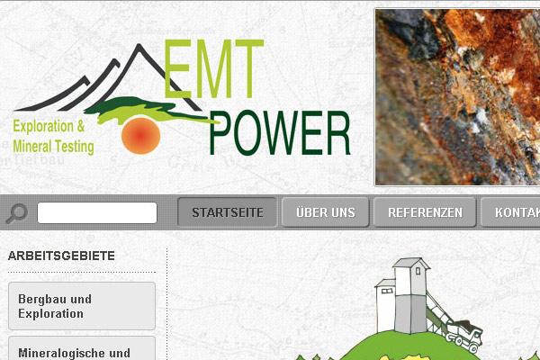 Уеб сайт на EMT-Power, Аахен, Германия