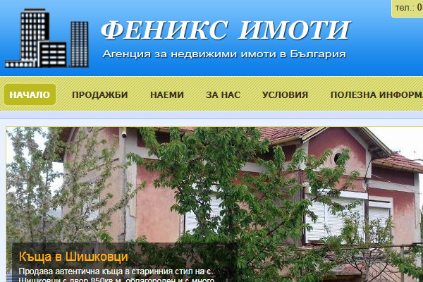 Уеб сайт Феникс Имоти