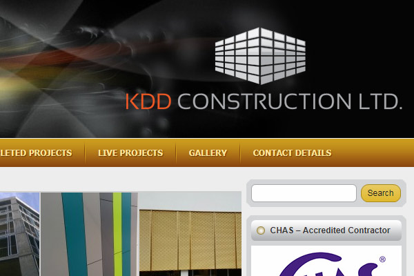 Уеб сайт KDD Construction LTD